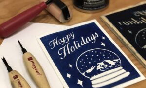 ALI ONEAL Holiday Card Carvings